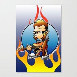 Rock Monkey!! Canvas Print