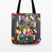 feminist Tote Bags featuring Feminist by Samwise