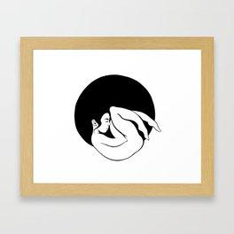 Round Framed Art Print