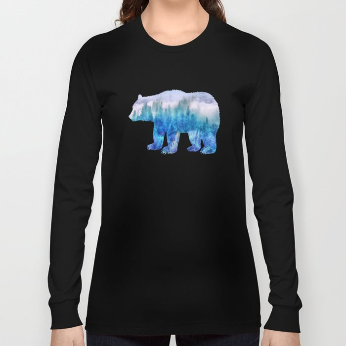 Clouds over pine forest Long Sleeve T-shirt