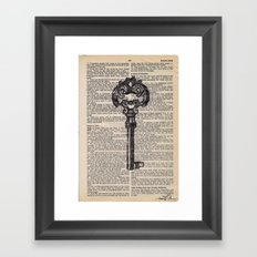 Key vintage #4 Framed Art Print