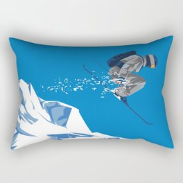 Ski Jump Rectangular Pillow