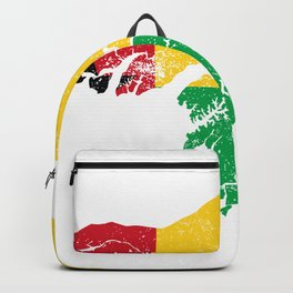 Distressed GuineaBissau Map Backpack