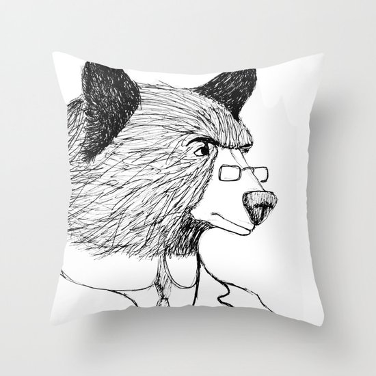 Bearing it all  Throw Pillow