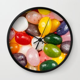 Cool colorful sweet Easter Jelly Beans Candy Wall Clock