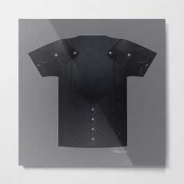 Armor Series: Stealth Leather Shirt Metal Print