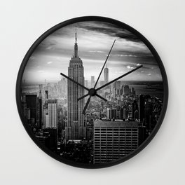 Empire State Building (Black and White) Wall Clock