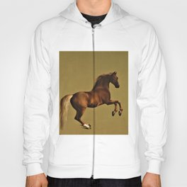 Classical Masterpiece Circa 1762 Racehorse Whistlejacket Rearing Up by George Stubbs Hoody