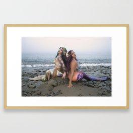 Salty Sirens Framed Art Print