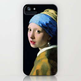 Jan Vermeer Girl With A Pearl Earring Baroque Art iPhone Case