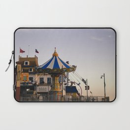 Swing ride at the pier Laptop Sleeve