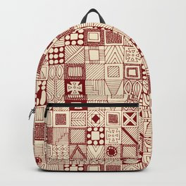 geo wolf red ivory Backpack