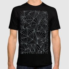 Ab Fan Grey and Black MEDIUM Black Mens Fitted Tee