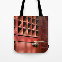 Red Architectural Detail Tote Bag