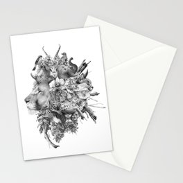 Kingdom of Monarchs (Black and White Version) Stationery Cards