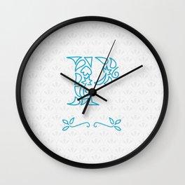 P Scallop: Blue Wall Clock