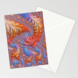 vibrant fractal Stationery Cards