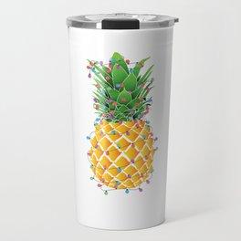 Pineapple Christmas Travel Mug