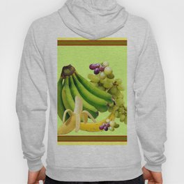 YELLOW-GREEN BANANAS GREEN GRAPES ART DESIGN Hoody