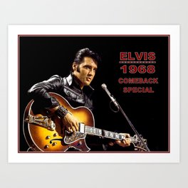 Elvis 1968 Comeback Special Advertising Print Art Print
