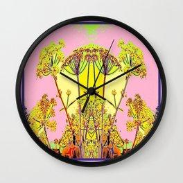 Queen Ann's Lace Floral Design Wall Clock