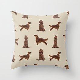 Irish Setter dog breed pet pattern gifts for irish setters Throw Pillow
