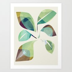 Loosey Goosey Leaves Art Print