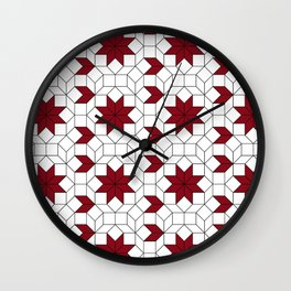 Rusty Flower Wall Clock