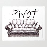 pivot Art Prints featuring Pivot by Coreypopp