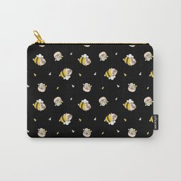 Pug Bee Pattern Carry-All Pouch