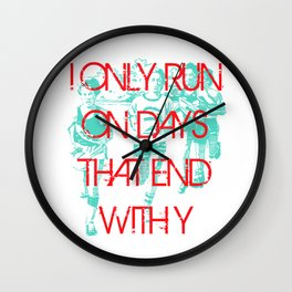 Running Days Wall Clock