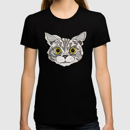 Happy Cats in Black T-shirt