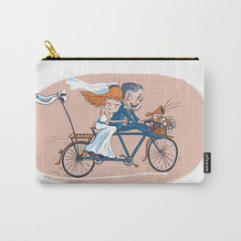 Happy Bridal Couple Carry-All Pouch
