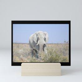 Cute Wildlife Elephant Wild Animal Mindfull Peace Mini Art Print