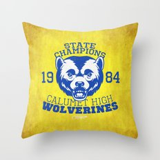 WOLVERINES! (YELLOW VARIANT) Throw Pillow