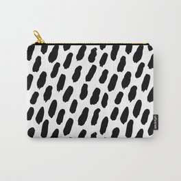 Minimalist Brush Stroke Stripes Patterns Carry-All Pouch