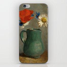 """Odilon Redon """"Pichet au Coquelicot et a la Marguerite"""" iPhone Skin"""