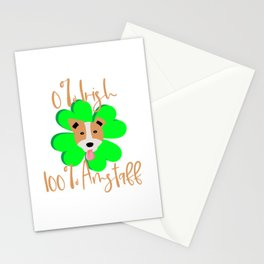 0 Percent Irish 100 Percent Amstaff Dog Lovers St. Patrick's Day Stationery Cards