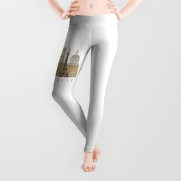 Indianapolis skyline poster Leggings