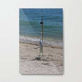 Wishin' I Was Fishin' Metal Print