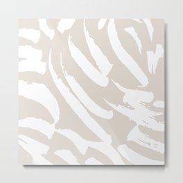 Neutral Brush Strokes Metal Print