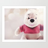winnie the pooh Art Prints featuring Winnie The Pooh by Ning Watson