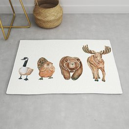 Canadian Crew | Woodland Animals Nursery Art Rug