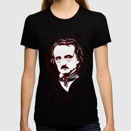 Edgar Allan Poe Circles Portrait T-shirt