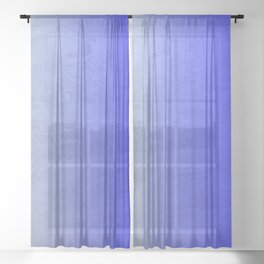 Blue Ice Glow Sheer Curtain
