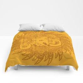 Ganesha Lineart Yellow Comforters