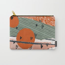 Paper Hearts Carry-All Pouch