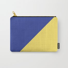 Modern royal blue sunshine yellow trendy color block Carry-All Pouch