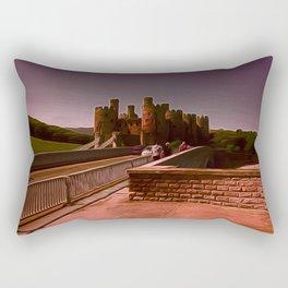 Conway Castle (Digital Art) Rectangular Pillow