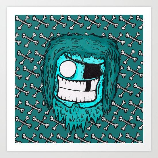 SKATE PIRATE Art Print